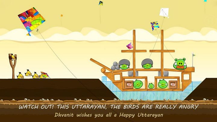 Watch Out! The birds are really angry this Uttarayan! Wishing you all a Happy Uttarayan!