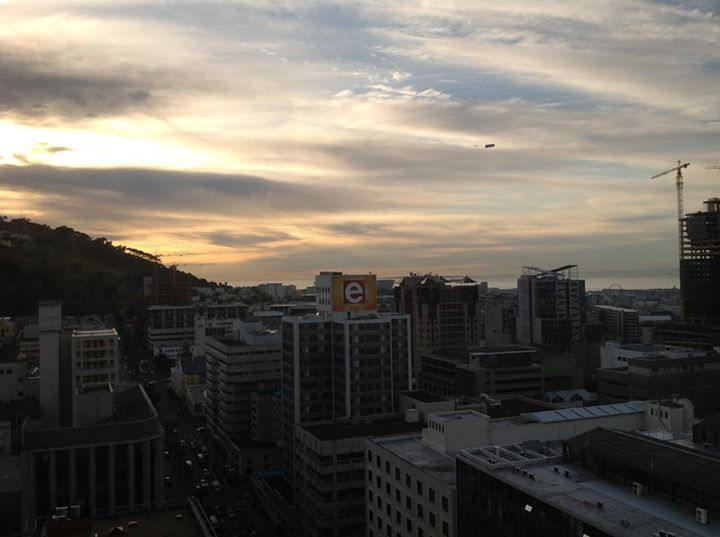 Sunset from the hotel room at Cape Town - the mother city of South Africa.