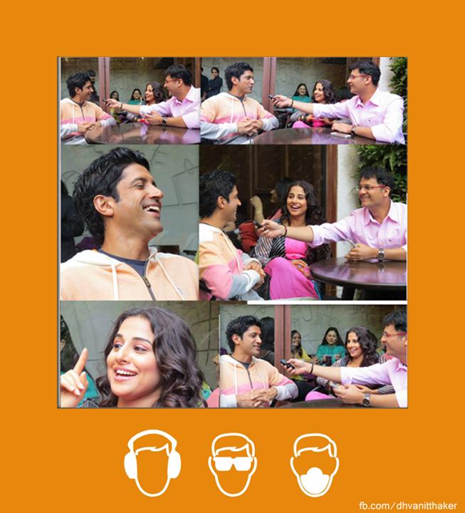:: Candid with Vidya Balan and Farhan Akhtar ::  \\ Catch it on Air Tomorrow.  \\