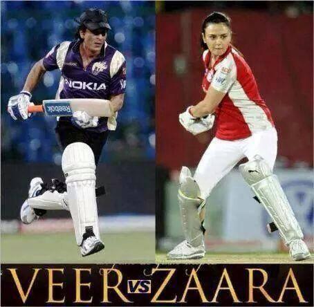 બોલો કોણ જીતશે,  VEER Pratap Singh કે ZAARA Haayat Khan?  #VeerZaara #KKRvsKXIP #IPLFinal