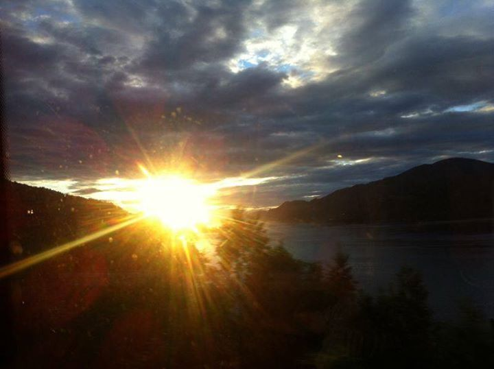 Well this is the Mid Night Sun at Norway. The Photo was taken last night at 11:15 pm on my way to Bergen.