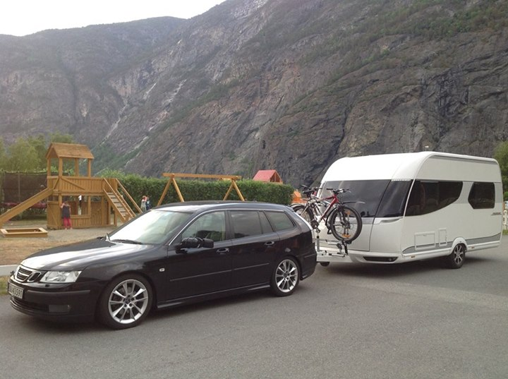 Day 6: Look at the Caravan! Spotted this beautiful Recreational Vehicle at Laurdal, Norway
