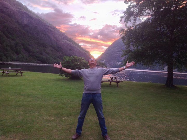 Now Such a tiny word.           Now. And yet it holds       all eternity!       - Hans Borli   Midnight Sun again! This pic was taken at 11.10 pm at a beautiful village in Norway.