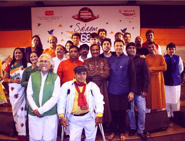 68 eminent artists united on one stage for the first Mirchi Music Festival.  Independence Day celebration couldn't have been better.  Were you there?   #Amdavad #MirchiMusicFestival