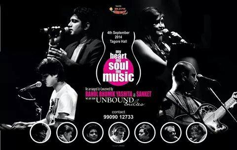 My Guitar Guruvaar partner Sanket Khandekar and a few good friends have come up with a fusion show! It's called My Heart My Soul My Music - a musical extravaganza on 4th Sept!   I wish them all the very best for the show!