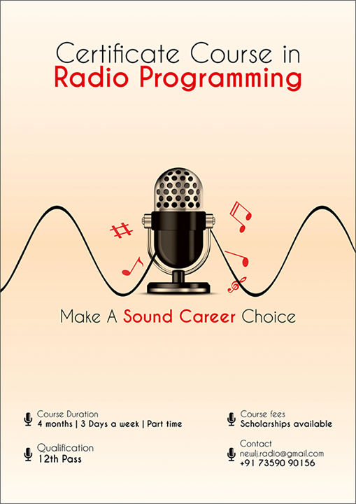 All that you wanted to know about the Certificate Course In Radio Programming, News Reading and TV anchoring!   For Registration please mail on newlj.radio@gmail.com