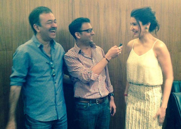 Yes, we talked about #Virat!  Raju Hirani, Anushka Sharma અને મારા હાથમાં હાસ્યનું remote control.  #PK #Ahmedabad