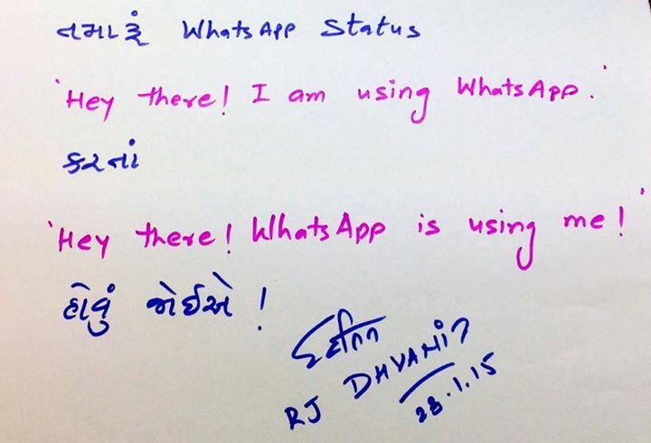 RJ Dhvanit,  Whatsapp
