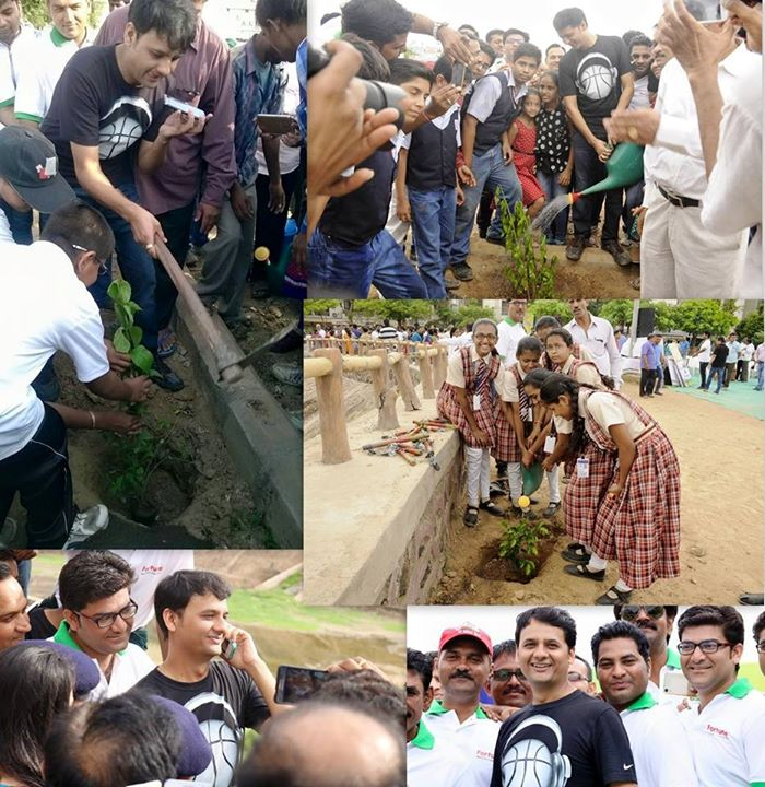 RJ Dhvanit,  MeraSwachchhMotera, TreePlantation, monsoon, AhmedabadRains, rain, tree, plantation, sapling, green
