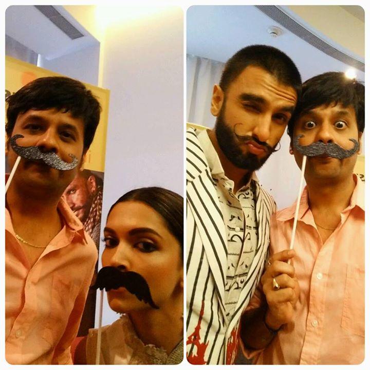 मूँछें हों तो नथुलाल जैसी!  Catch #DeepikaPadukone and #RanveerSingh tomorrow morning with me on #hiamdavad. Don't Miss!!   #BajiraoMastani #moustache