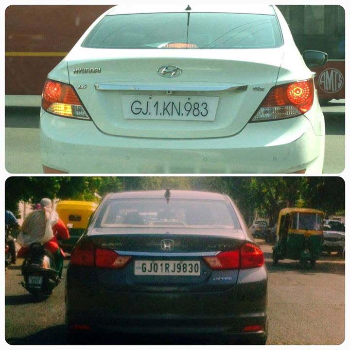 Found these cars on the way with these number plates. काश मेरी गाड़ी का नंबर GJ-1-RJ-983 होता!  #HappyBirthday #RadioMirchi #Amdavad #Ahmedabad #mirchi #car #numberplate #carnumber