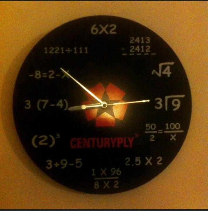 :: આને કહેવાય ગૂગલી ઘડિયાળ! અલવિદા 2015 ::  #clock #time #byebye2015 #mathematics