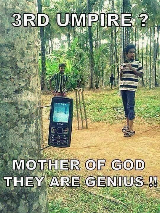 They Must be Really Serious about #Cricket  #SimpleThinking #Technology   Source:Internet