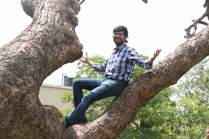 Climbed a #tree after a long time! Pic from last week's plantation at a hospital.  #TreeIdiot #treeidiots #gogreen