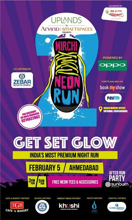#mirchineonrun season 2 is back #amdavad   Register today to get 20% off. Use Promocode MIRCHI20 on bookmyshow. Offer Only for today.
