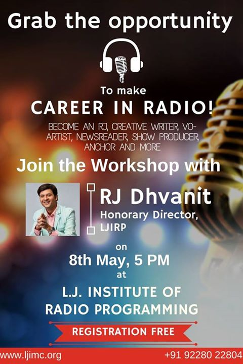 RJ Dhvanit,  radio?, workshop, summer, summerworkshop, amdavad