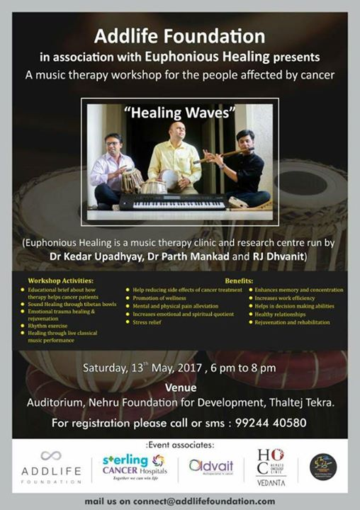 #musictherapy #workshop for people affected by #cancer  #music #healing #amdavad