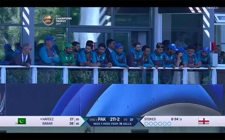 Team in Blue had to Win.  #PAKvsENG #ChampionsTrophy