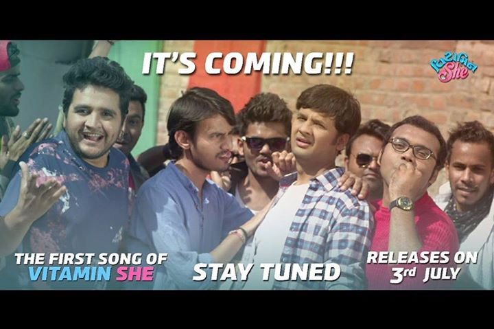 First song of #vitaminshe releasing tomorrow!  #gujaratifilm
