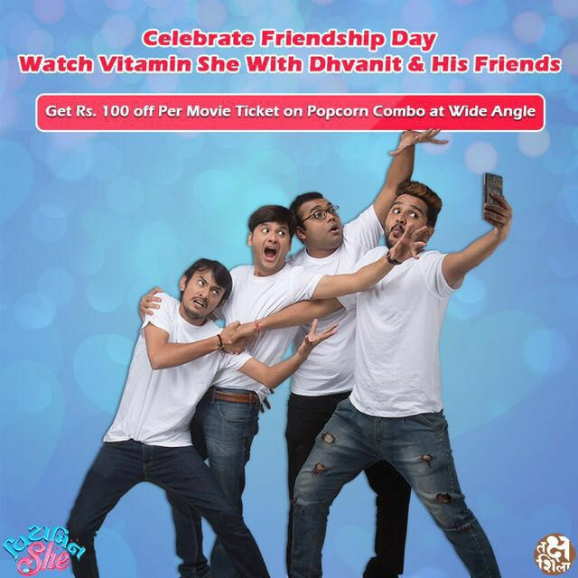 Celebrate #friendship day with my #vitaminshe gang: Vadeel, admin and maniyo. Book your tickets now. Prem Gadhavi Smit Pandya Maulik Jagdish Nayak  #gujaratifilm #incinemasnow #booknow #friendshipday #friends