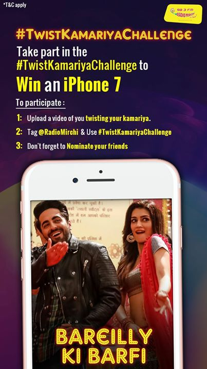 Wanna win an iPhone 7?  DM your #TwistKamariyachallenge video. Follow the below instructions and get a chance to win.