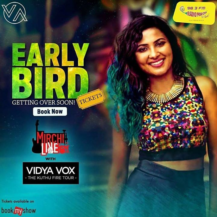 Mirchi brings to you Vidya Vox in #Ahmedabad.   Avail early bird discount till Sept 10. Book your tickets now from bookmyshow.  #concert #amdavad #vidyavox