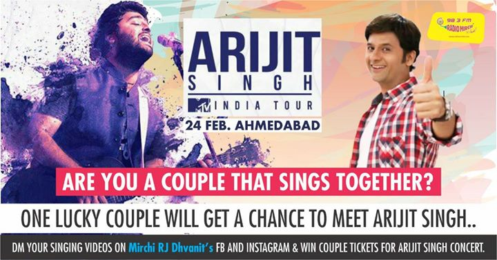 Are you a couple that sings together? DM me your singing video with your girlfriend/boyfriend or life partner and get to win arijit singh concert passes or a chance to meet the man himself!  #arijitsingh #live #alwaysandforever #concert #singing #couple ArijitSingh