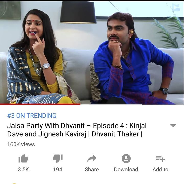 RJ Dhvanit,  youtube!, jalsaparty, jalsapartywithdhvanit, jalsa, party, dhvanit, rjdhvanit, webseries, kinjaldave, jigneshkaviraj, trending