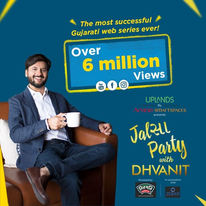6 Million! Thank you so much for your over whelming response to #jalsapartywithdhvanit  #jalsaparty #jalsa #party #dhvanit #rjdhvanit #webseries #gujarati