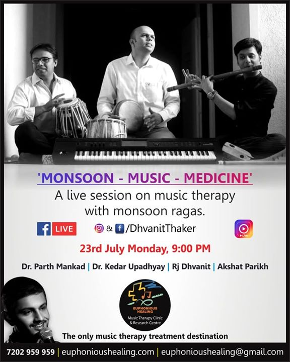 Which is your favorite baarish song? Join us for a musical #fblive tomorrow night at 9pm  #monsoon #monsoons #baarish #music #musicheals #musictherapy #musictherapyclinic #facebooklive