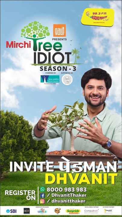 Mirchi Tree Idiot Season 3 is here! I would be coming to Paldi Vasna area on this Monday for plantation.   If you want me to come to your place then Register for your saplings by filling this form: https://goo.gl/forms/ZmDmDjcHb5jAqmCv2  #treeidiots #tree #trees #gogreen #ecofriendly #monsoon #monsoons #ahmedabad #amdavad #dhvanit #pedman #pedmandhvanit #plantation #treeplantation #treeidiot #paldi #vasna #amc Ahmedabad Municipal Corporation