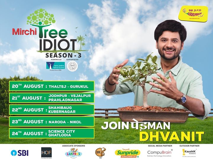 These are the areas I would be visiting this week for Mirchi Tree idiot season 3.  Register for your saplings by filling the form link  and I might come to your place/office/school/college/organization  https://goo.gl/forms/ZmDmDjcHb5jAqmCv2  Thank you for the support as always Ahmedabad Municipal Corporation  #mirchitreeidiot #ahmedabad #pedmandhvanit