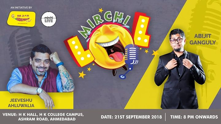 Mirchi LOL on 21st September. Book your tickets now from bookmyshow  #comedy #standupcomedy