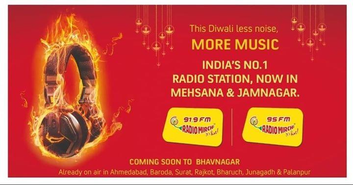 Diwali gift!  Mirchi now in Mehsana and Jamnagar too..  #mirchi #radiomirchi #gujarat #mehsana #jamnagar