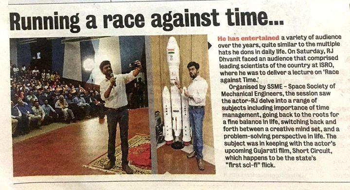 RJ Dhvanit,  time, samay, raceagainstTime, monday, mondayblues, ahmedabadmirror