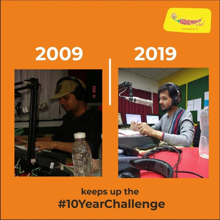At mirchi #10yearschallenge  #10yearchallenge