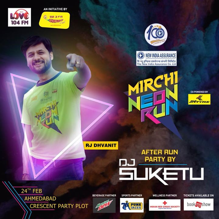 The after party is the catch! Mirchi Neon Run Season 4! Tickets on bookmyshow