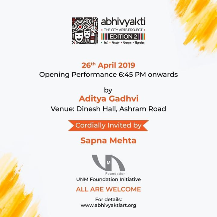 For the lovers of Art ... Music, Dance and Theatre!   So happy to see something like this happening in our own Amdavad!