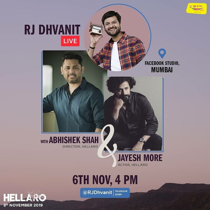 Going live with team Hellaro at 4 PM from Facebook headquarters!   #hellaro #mirchigujarati