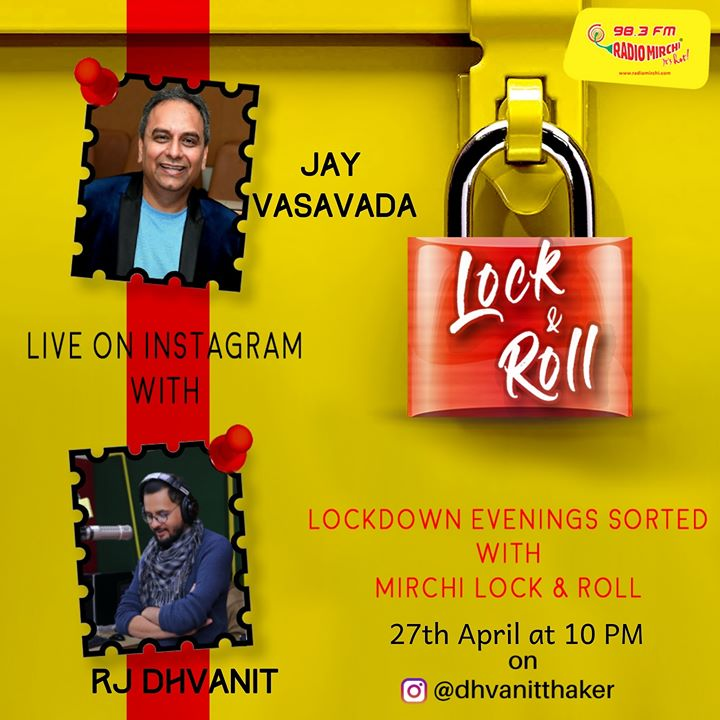 Insta-Live ::  જય વસાવડા સાથે RJ ધ્વનિત   બોલો અંતાક્ષરી રમીએ કે વાતોથી વિશ્વભ્રમણ કરીએ? તમારે કોઈ સવાલ પૂછવો છે? તો અહીં કમેન્ટ કરો!   આજે રાત્રે 10 વાગ્યે on Dhvanit's Instagram.  Jay Vasavada  #jayvasavada #RjDhvanit #MirchiLocknRoll #instalive #RadioMirchi #MirchiGujarati