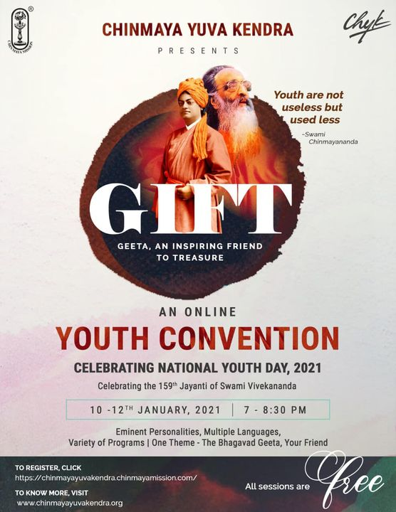 RJ Dhvanit,  bhagwadgeeta, srimadbhagavadgita, chinmayamission, knowledge, youthday2020