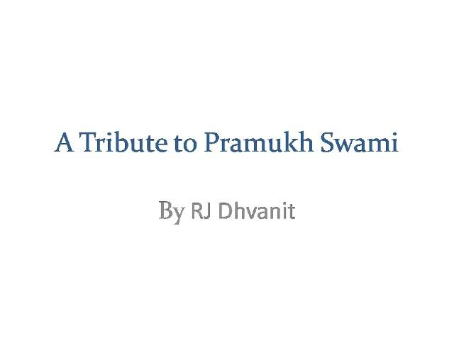 A humble tribute to Pujya Pramukh Swami Maharaj!  #swaminarayan #pramukhswami
