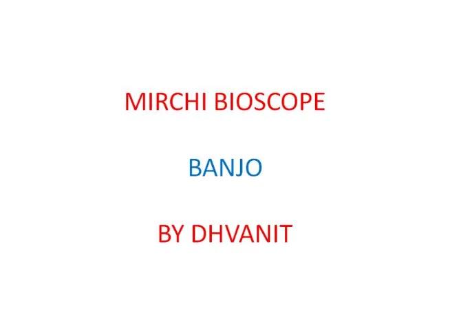 #MirchiBioscope: #banjo  #riteshdeshmukh