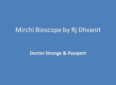 #mirchimoviereview: #doctorstrange & #passport  #mirchibioscope #malharthakar #urbangujaratifilm #sherlockhomes Malhar Thakar Passport FILM