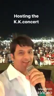 Hosting the #KK concert!  #liveinconcert #amdavad KK
