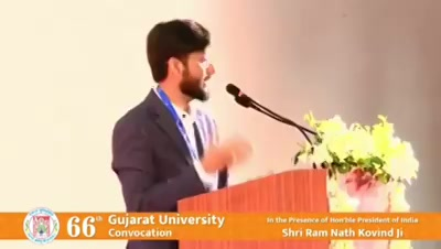 Delivered a speech at #gujaratUniversity convocation.  #convocation #lecture #dhvanit