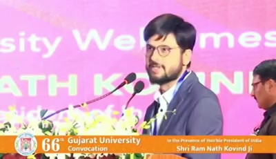 આવા પણ લોકો હોય છે..  A snippet of the speech at the Gujarat University Convocation.  #gujaratUniversity #convocation #gu #speech #treeidiot #treeidiot2 #naturelover #humanity