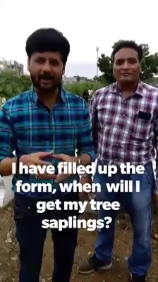 Ladies and gentleman, here's your last chance to register for your saplings by filling this form : https://goo.gl/forms/ZmDmDjcHb5jAqmCv2  Here is a message for all the people who have filled out the form uptil now!