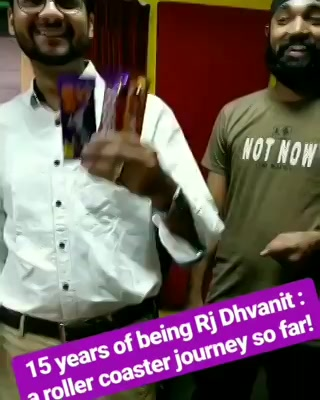 લો વાત વાત માં પંદર વર્ષ થઇ ગયા! 15 Years of Being RJ Dhvanit! THANK YOU my dear listener for gifting me with this wonderful roller coaster ride!