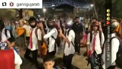 PUBG fever to another level! PUBG garba.. #navratri #navratri2018 #garba #mirchirockndhol2018 #mirchirockndhol #hangover #navratrihangover #pubg #pubggarba